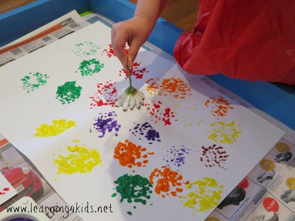 flower printing 4 - Printing Activities For Preschoolers