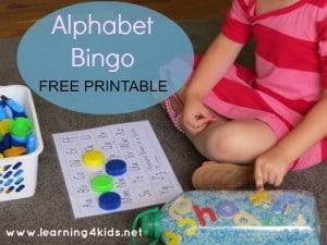 Alphabet Bingo In A Bottle Learning 4 Kids