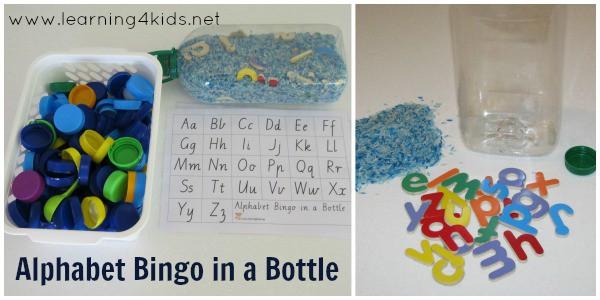 Alphabet Bingo in a Bottle