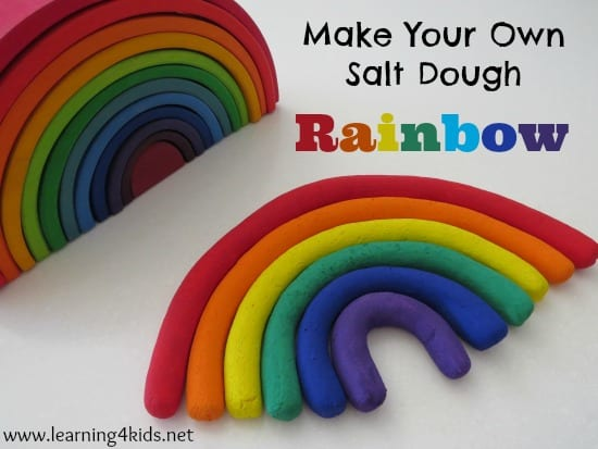 Make Your Own Salt Dough Rainbow Learning 4 Kids