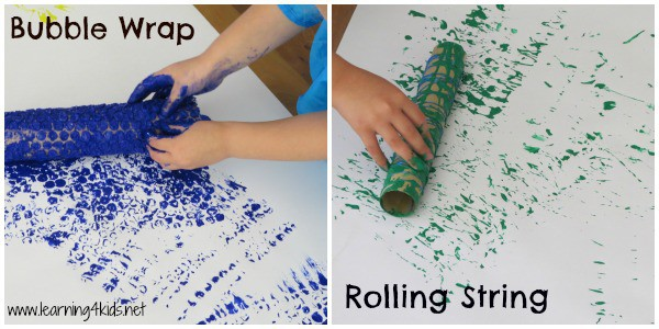 Bubble Wrap and Rolling String