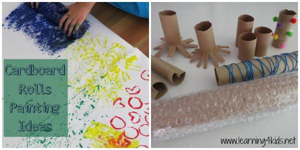 Cardboard Rolls Painting Ideas - learning4kids