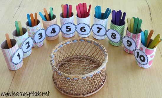 Number and counting activity for kids - Learning4kids