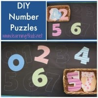 Number and Couting Activity for toddlers and kids. DIY Number Puzzles