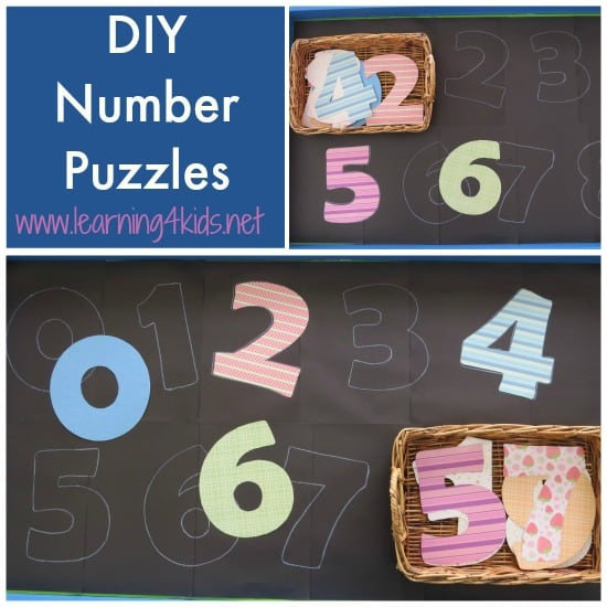 Diy Number Puzzles Learning 4 Kids