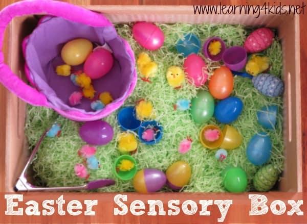 Easter Sensory Box - Learning4kids