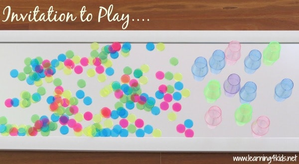 Inviation to Play with Colours and a Mirror - learning4kids