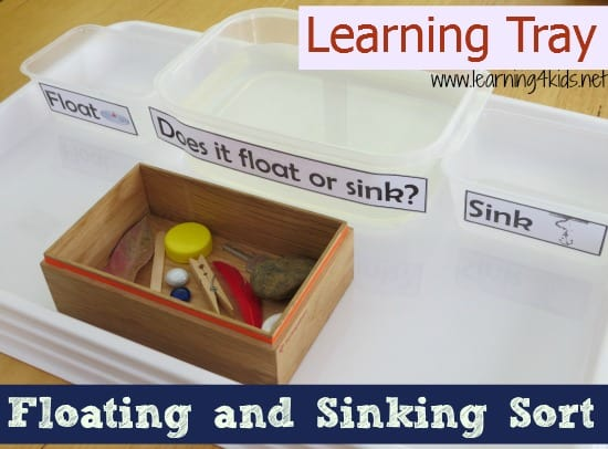 Learning Tray Floating and Sinking Sort