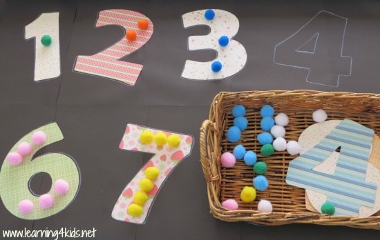 Learning number activities for kids
