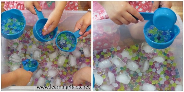 Let's learn- water beads and ice