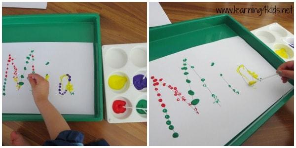 Name Activities - Dot Painting