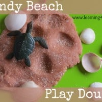 Sandy beach playdough