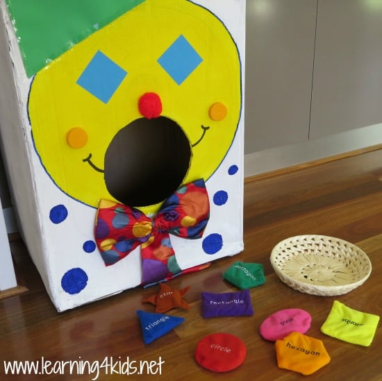 Invaitation to Play with Shapes - learning4kids