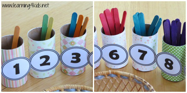 Sorting by number and colour - learning4kids