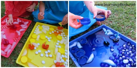 Colour Activities Coloured Ice Boats Learning 4 Kids