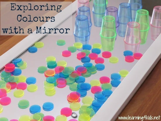 Exploring Colours With A Mirror Learning 4 Kids