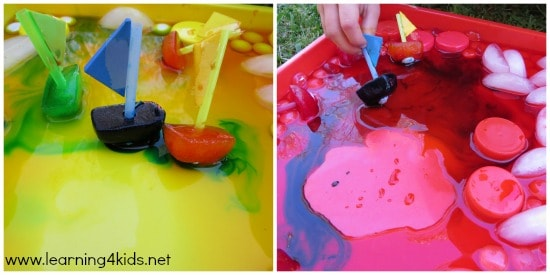Mixing Colours with Ice Boats