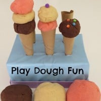 Neapolitan Ice Cream Play Dough Fun (learning4kids)