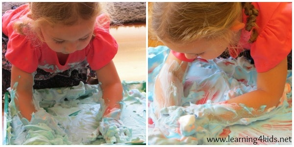 Sensory Play Ideas - Shaving Cream