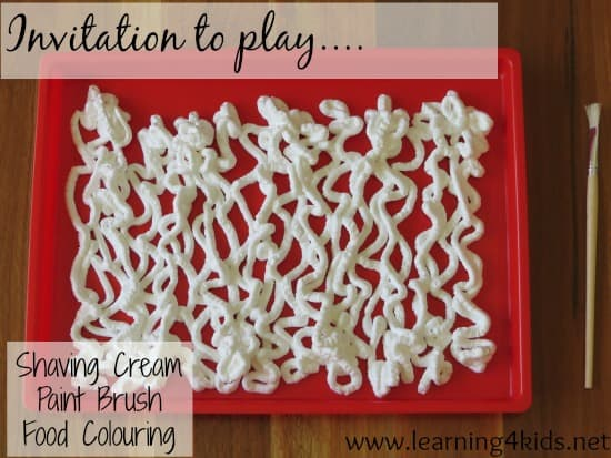Shaving Cream Invitation to play