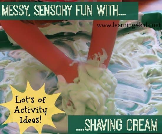 Shaving Cream Activity Tray Learning 4 Kids
