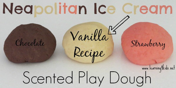 Vanilla Ice Cream Play Dough Recipe