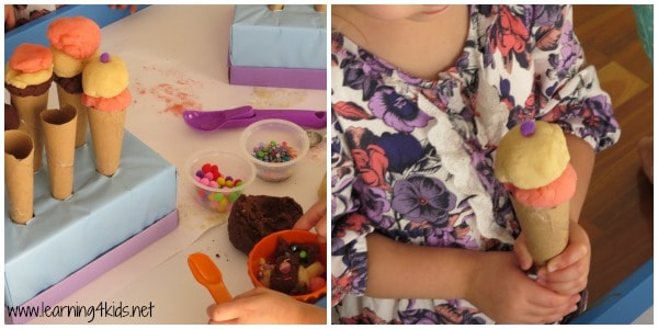 learning opportunities with play dough