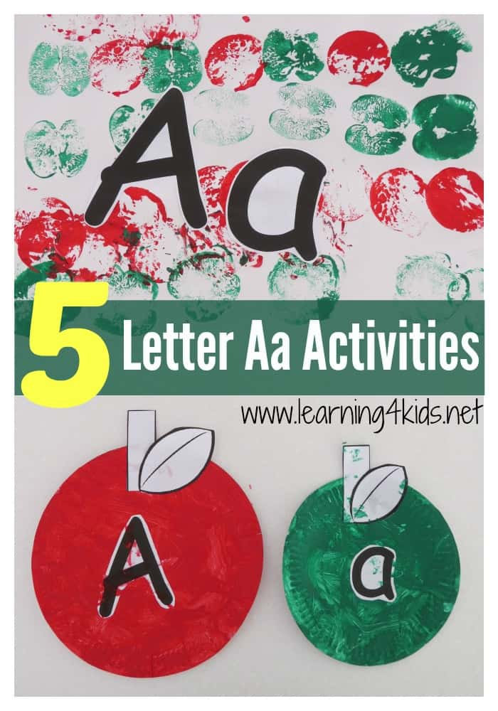 list of alphabet activities learning 4 kids