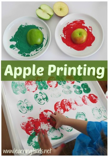 Alphabet Activities for Toddlers Apple Printing