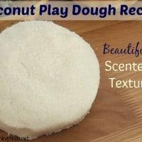 No Cook Coconut Play Dough Recipe