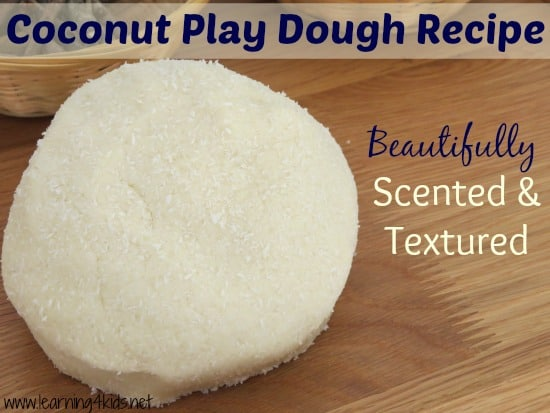 No Cook Coconut Play Dough Recipe