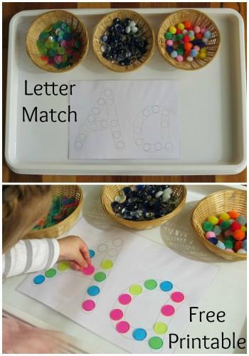 Letter Match - Free Printable Alphabet Letters