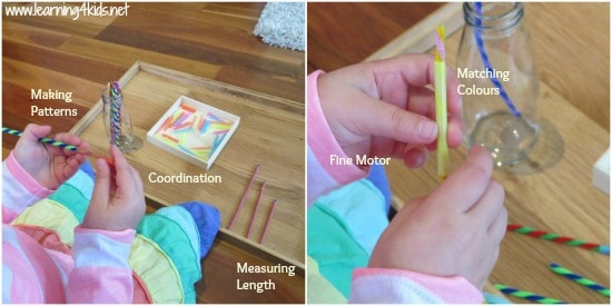 Measurement Activity using Pipe Cleaners and Straws