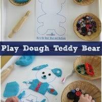 Play Dough Teddy Bear with Free Printable