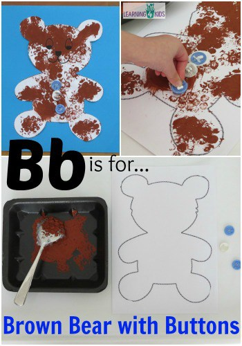 Bb is for Brown Bear with Buttons