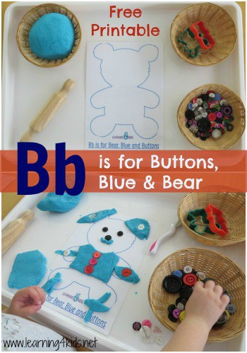 Bb is for buttons, blue and bear