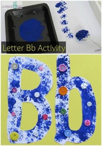 Learning the Letter Bb Activities