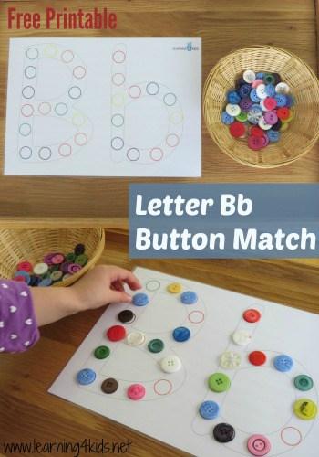 alphabet activities letter b activities learning 4 kids. Black Bedroom Furniture Sets. Home Design Ideas
