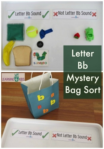 Letter Bb Mystery Bag Sort