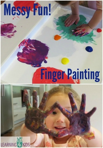Messy Fun Finger Painting