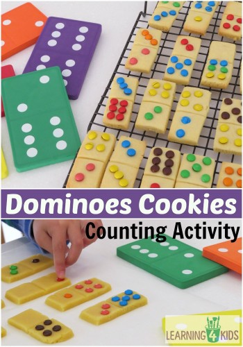 Cool Math Games - Domino Cookies activity for preschoolers