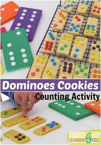 Cool Math Games - Domino Cookies activity for preschoolers