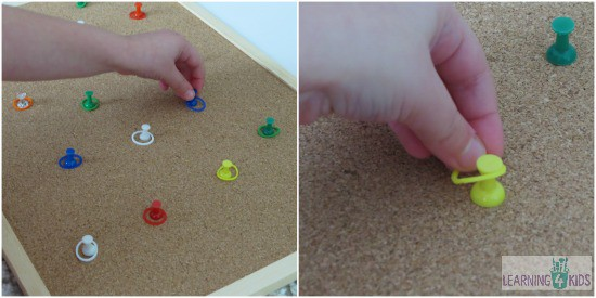 Matching Colours Activity Idea