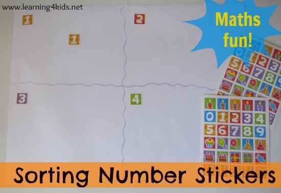 Number Activity - Sorting Number Stickers | Learning 4 Kids