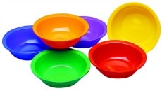 Coloured Craft Bowls Pack of 6