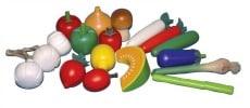 Santoys Wooden Vegetable Set 18 Pieces