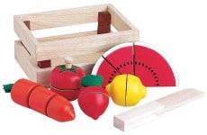 Santoys Pre-cut Wooden Fruit and Vegetable Set 14 Pieces