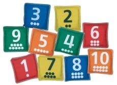 Number Bean Bags Set of 10