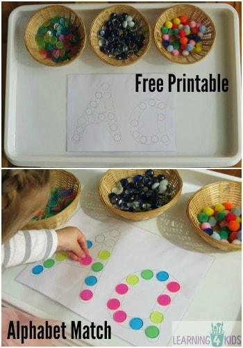 Alphabet Dot Match Free Printable