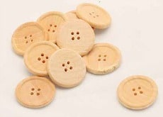 Buy Large Wooden 25mm Buttons Online